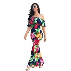Dresses & Skirts - nwt Floral Off-Shoulder Maxi Dress XL